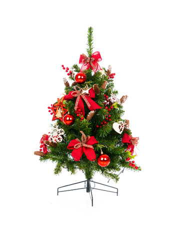 dacorated: Christmas tree isolated on white background
