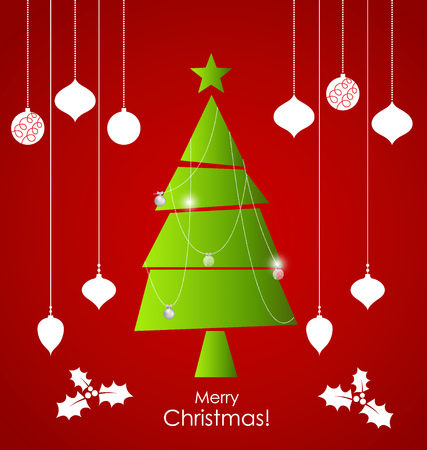 Christmas background with Christmas decorations. Vector illustration. Illustration