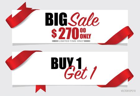 End of year sale, Christmas sale design template. Sale Coupon, voucher, tag. Vector illustration. Illusztráció