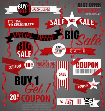 Price tag, sale coupon, voucher. Vector illustration. Illustration