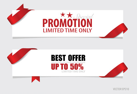 End of year sale, Christmas sale design template. Sale Coupon, voucher, tag. Vector illustration. Vettoriali
