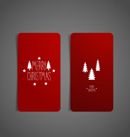 christmas tree illustration: Christmas Greeting Card with Christmas tree, vector illustration.