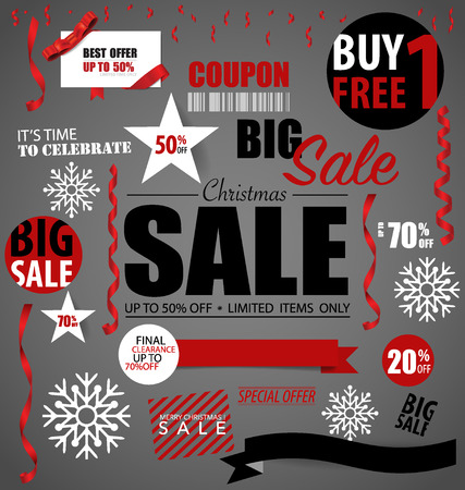hot sale: Price tag, sale coupon, voucher. Vector illustration. Illustration