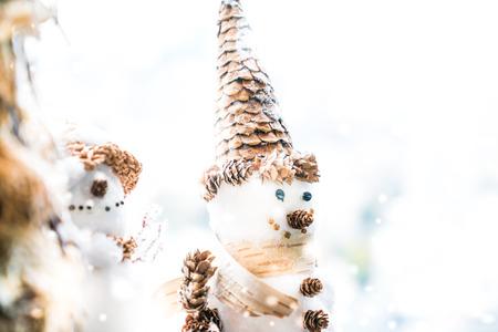 snow man: Snow man christmas decoration Stock Photo