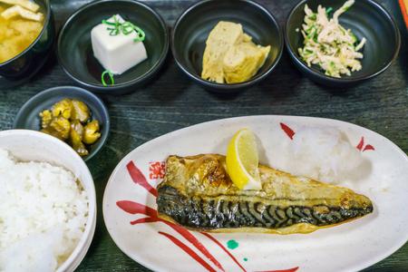 teriyaki: Japanese food style Saba teriyaki grilled