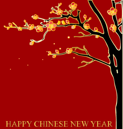 chinatown: Chinese New Year Greeting Card. Vector Illustration. Illustration