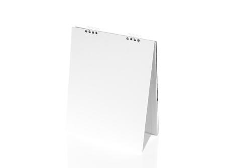 desktop calendar: Blank desktop calendar Stock Photo