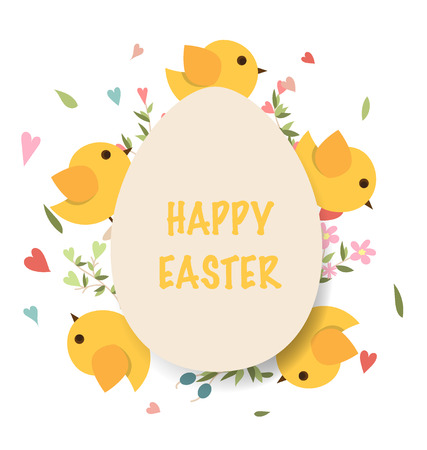 chocolate egg: Happy easter cards with Easter eggs. Vector illustration. Illustration