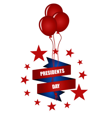 presidents: Happy Presidents Day. Presidents day banner illustration design with american flag.