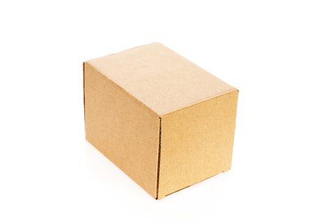 stockpiling: Cardboard boxes isolated on white background Stock Photo