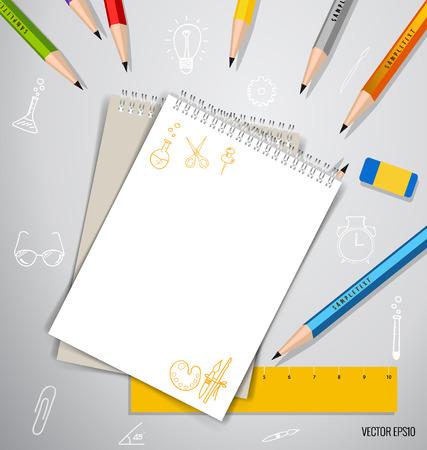 mock up: Paper, catalog, magazines, book mock up. Vector illustration.
