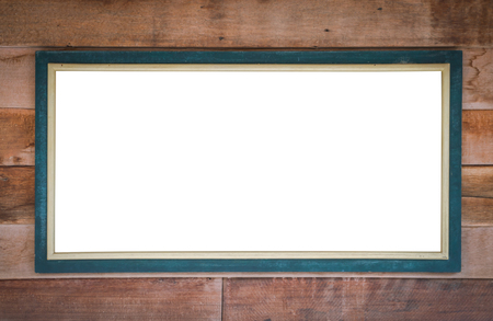 a signboard: Wooden signboard.