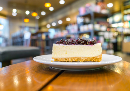 morsel: Slice of blueberry cheesecake