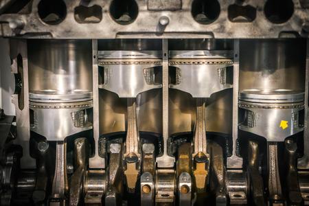 Engine piston cross section