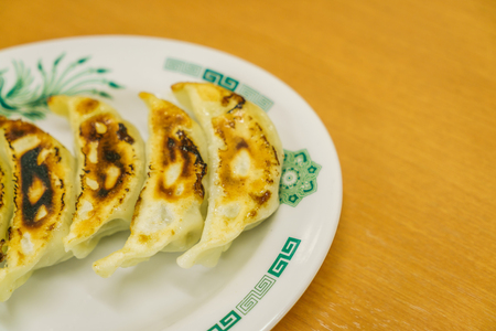 slurp: Gyoza on table Stock Photo