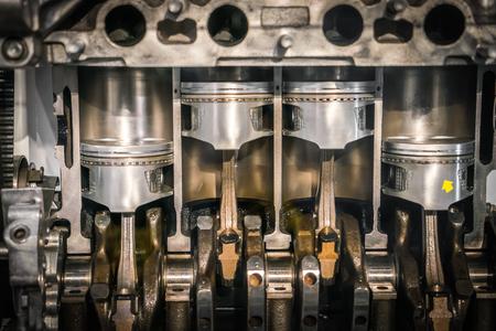 section piston transversal du moteur Banque d'images