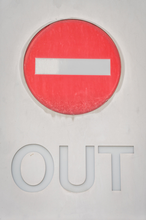 restrictive: Out Prohibition Sign