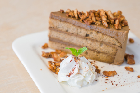 coffee and cake: Coffee cake Stock Photo