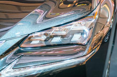 headlights: Headlights of car