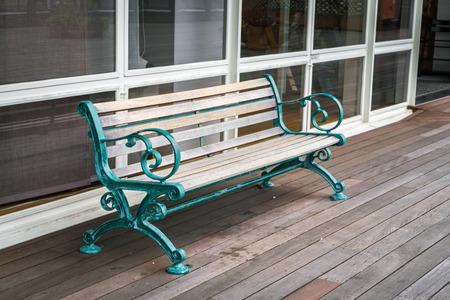 wood bench: Wood bench in wood floor