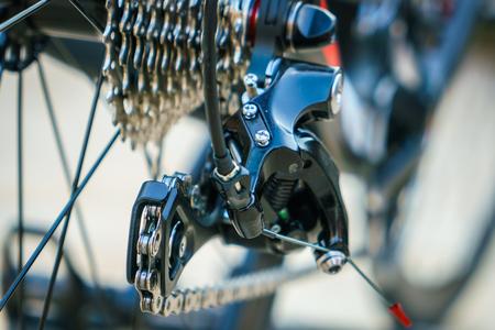 machine teeth: Close up of Bicycle gears