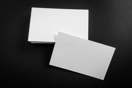 business cards: Business cards on black background
