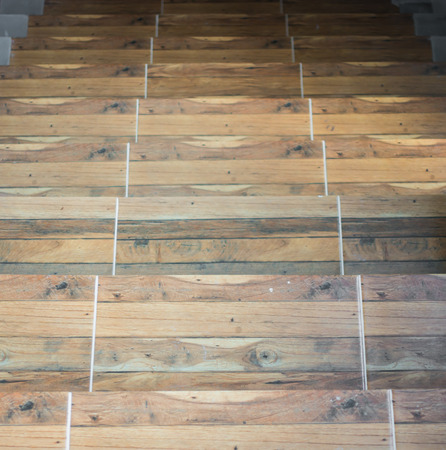 Classic wood staircase