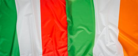 bandera irlanda: Italia y Rep�blica de Irlanda flag