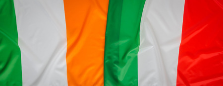 republic of ireland: Italy and Republic of Ireland flag