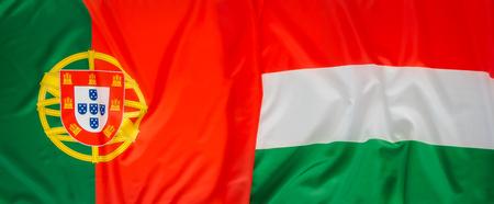 drapeau portugal: La Hongrie et le Portugal drapeau Banque d'images