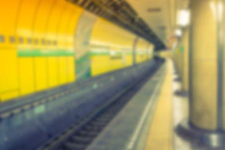 blur subway: Abstract blur Subway tunnel Stock Photo