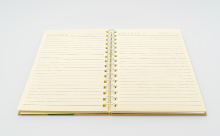 note pad: Blank Note book  mock up on white background