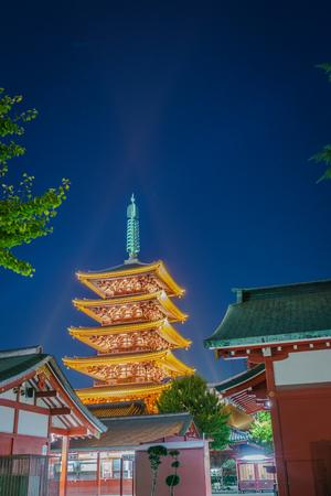 asakusa: Sensoji-ji Temple in Asakusa Japan Stock Photo