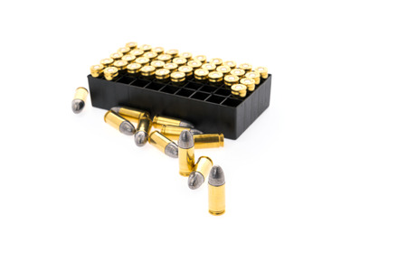 9mm ammo: 9mm bullet for gun on white background