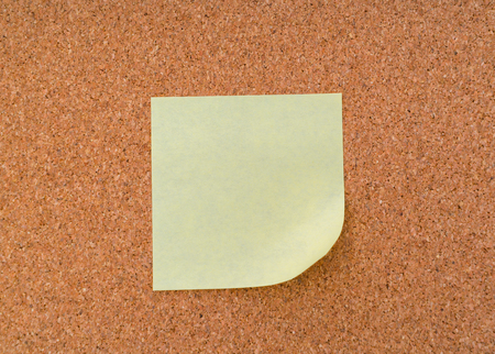 corkwood: Post it notes on cork board
