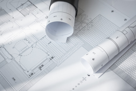 autocad: Construction plans of architectural project