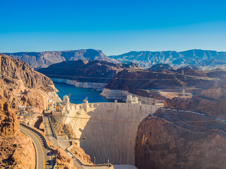 hoover: Hoover Dam in Nevada, USA Editorial