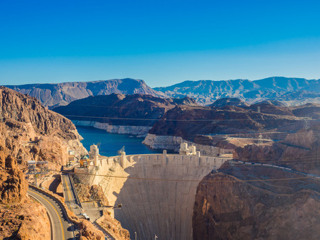 Hoover Dam in Nevada, USA Editorial