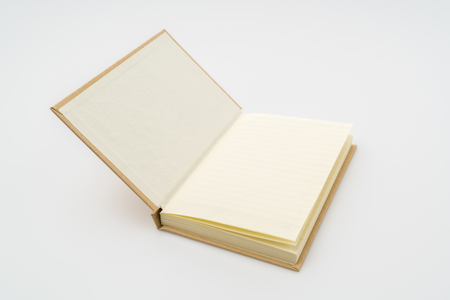 note pad: Recycled paper book  on white background