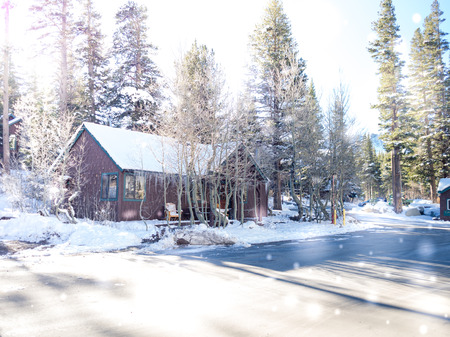 mammoth lakes: Way to Mammoth Lakes in Winter