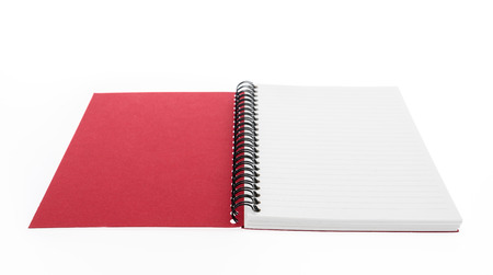 blank note book: Blank Note book  mock up on white background