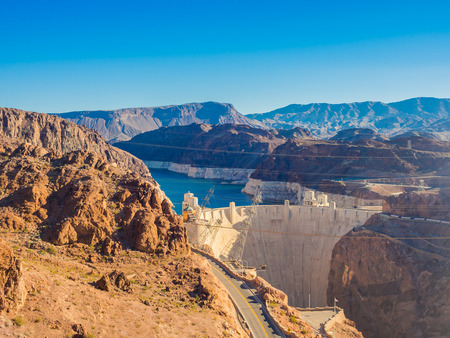 hoover dam: Hoover Dam in Nevada, USA Stock Photo