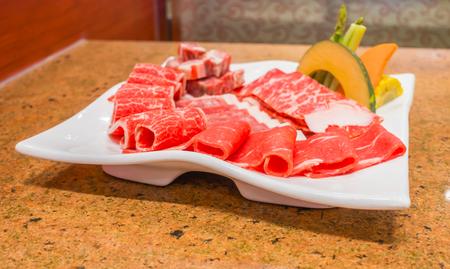 Raw fresh beef Stock Photo