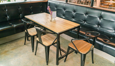 restaurant tables: Tables and chairs in restaurant