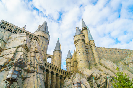 ranked: OSAKA, JAPAN - December 1, 2015: Universal Studios Japan (USJ). According to 2014 Theme Index Global Attraction Attendance Report, USJ is ranked fifth among the top 25 amusement parks worldwide.