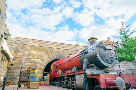 attendance: OSAKA, JAPAN - December 1, 2015: Universal Studios Japan (USJ). According to 2014 Theme Index Global Attraction Attendance Report, USJ is ranked fifth among the top 25 amusement parks worldwide.