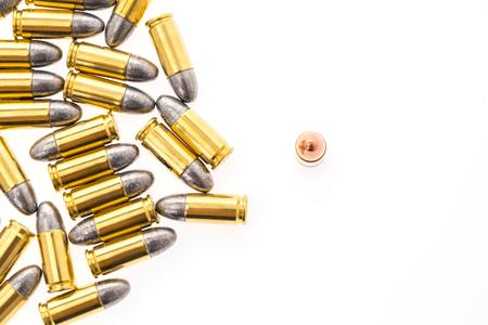 luger: 9mm bullet for gun on white background