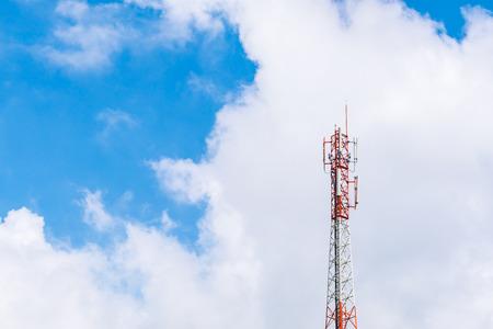 bandwidth: Telecommunication tower with beautiful sky Stock Photo