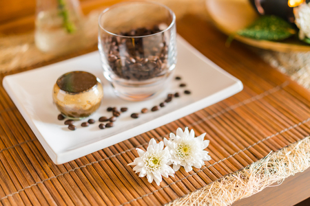 compress: Spa therapy ingredients Stock Photo