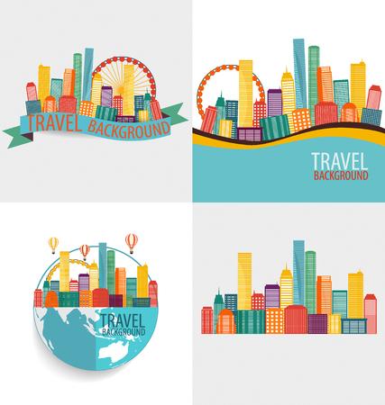 Creative-Gebäude-Design-Vorlage für Ihr Unternehmen, Vektor-Illustration Vektorgrafik